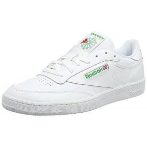 Reebok Club C 85, Sneakers Basses Homme - Blanc (Intense-White/Green), 44.5 EU
