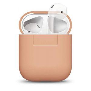 Elago Étui compatible avec Apple AirPods 1 & 2 (Témoin LED Non Visible) En Silicone Non-Toxique Anti-Rayures Plus de protection - Pêche