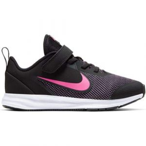 Nike Chaussures running Downshifter 9 Psv - Black / Hyper Pink / White - Taille EU 35
