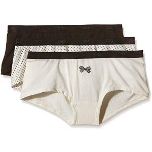 DIM Vêtements intérieurs -paris D4c20 Pack-3 Culotte - White / Black - M