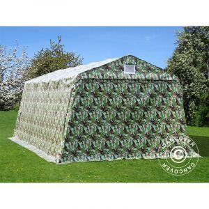 Tente abri Voiture garage PRO 3,3x6x2,4m PVC, Camouflage DANCOVER