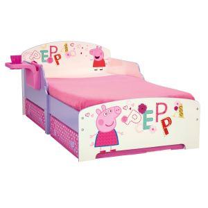 Room Studio Lit enfant Pegga Pig en bois avec rangement et étagère
