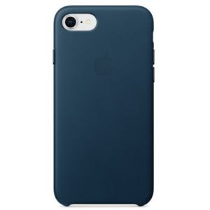 Apple Coque en cuir Bleu nuit iPhone 8 / 7