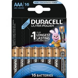 Duracell Ultra Power Piles Alcalines type AAA - Pack de 16