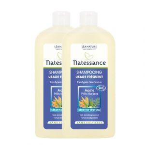 Natessance Shampoing usage fréquent tout type de cheveux 500 ml