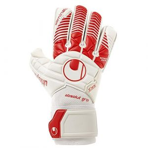 Uhlsport Elm Gants de Gardien de But Mixte Adulte, Blanc/Rouge, Taille 10