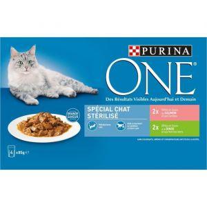 Purina ONE - Patée spéciale chats stérilisés - Pour les chats - 4x85g