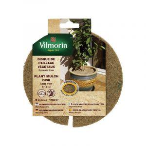 Vilmorin Disque de paillage végétaux 1000g/m² - Ø 16cm