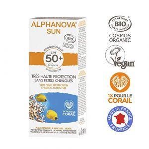 Alphanova Crème Solaire IP50  Très Haute Protection Visage Peaux Sensibles Bio Tube 50g