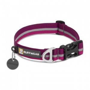 Ruffwear Collier classique avec bande réfléchissante pour chien, Chiens de petite à très petite taille, Taille ajustable, Taille: S (28-36 cm), Violet (Purple Dusk), Crag Collar, 25801-5601114