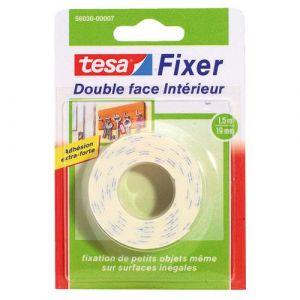 Tesa Ruban adhésif double face intérieur - 1.5 m x 19 mm - Adhésif double face