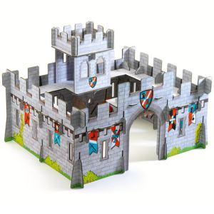 Djeco Construction en carton 3D Pop'n Play : Château médiéval