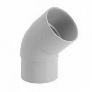 GIRPI Coude 45° MF PVC gris (16 - 50 - < 30 m²) - Développé : 16 - Ø mm : 50 - Toiture : < 30 mA² -