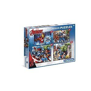 Clementoni Puzzle Progressif 4-en-1 Avengers