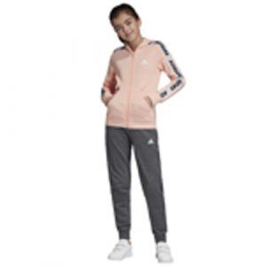 Adidas YG Hood COT TS Survêtement Fille, Glow Pink Medium Grey Heather/White, FR : L