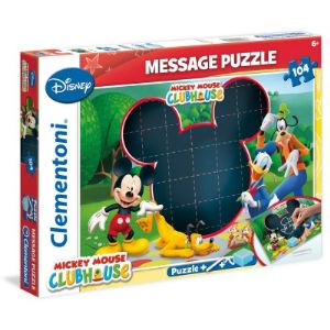 Clementoni Puzzle message : Mickey Mouse Club House 104 pièces