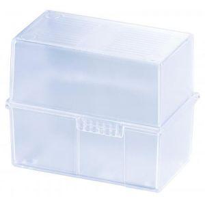 Han 976-73 - Boîte à fiches DIN A6, avec couvercle, pour 400 fiches, coloris bleu ciel transparent