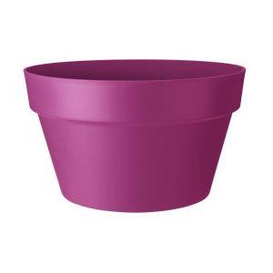 Loft URBAN Pot de fleur coupe - 35 cm - Rouge cerise - Livré avec réservoir d'eau - Fabriqué en plastique - Facile à nettoyer - Résiste aux chocs - Avec soucoupe