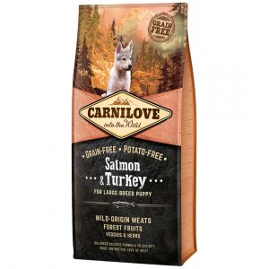 Carnilove Large Breed Puppy Salmon & Turkey - Sac 12 kg