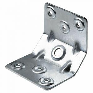 Hettich 1 renfort d'angle pour table acier zingué, l.70 mm