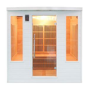 France Sauna Soleil Blanc Club - Sauna cabine à infrarouge pour 4/5 personnes