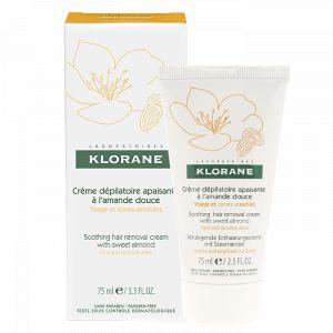 Klorane Crème dépilatoire apaisante peaux sensibles à l'amande douce