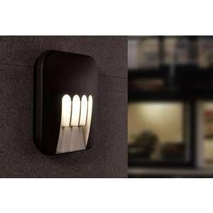 Lutec Applique murale LED extérieure ECO-Light Luminaire LED design Mask LED intégrée anthracite