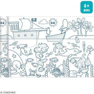 Avenue mandarine Rouleau de papier à colorier Graffy Roll - Pirates et sirènes - 35 cm x 5 m