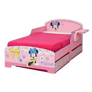 Character World Lit Minnie Mouse avec tiroirs de rangement 70 x 140 cm