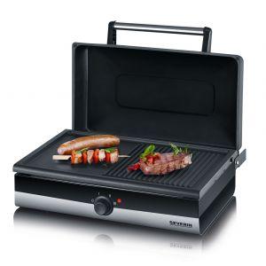 Severin Smart-Line (PG 2368) - Grill barbecue électrique avec couvercle
