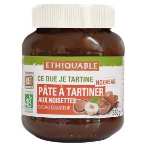 Ethiquable Pâte à tartiner aux noisettes Equateur BIO 350g