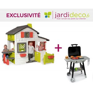 Smoby Cabane enfant Friends House + barbecue