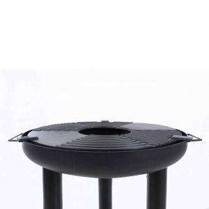 Barbecue gril à plancha Noir Acier