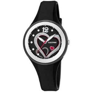 Calypso Trendy Montre femme cadran Noir / argenté / rouge bracelet Noir-K5751/4