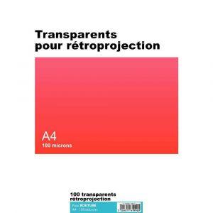 Majuscule Transparent ecriture A4 100m - boite de 100