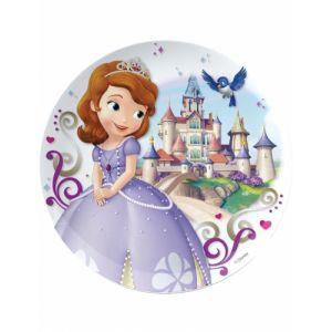 Assiette mélamine Princesse Sofia 20 cm