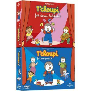 Coffret T'Choupi : T'Choupi Fait Danser l'Alphabet + T'Choupi  Fait Son Spectacle