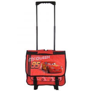 Cartable à roulettes Cars McQueen 38 cm Rouge