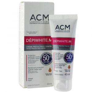 ACM DÉPIWHITE.M - Crème protectrice teintée dorée SPF50+