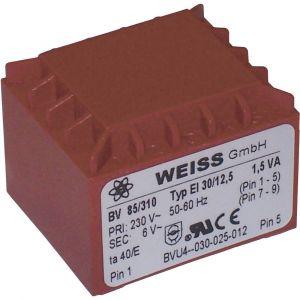 Weiss Elektrotechnik Transformateur pour circuits imprimés 85/311 1 x 230 V 1 x 9 V/AC 1.50 VA 167 mA 1 pc(s)