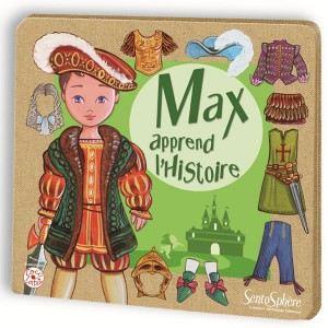 Sentosphère Figurines magnétiques à habiller Max apprend l'histoire