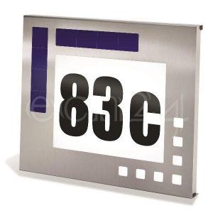 Esotec Applique plaque de numéro de maison solaire