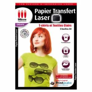 Micro application 5351 - 5 feuilles papier transfert laser textile (A4)