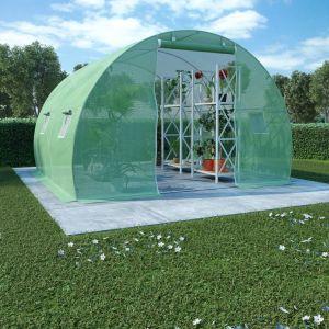 VidaXL Serre avec fondation en acier 9 m² 300x300x200 cm