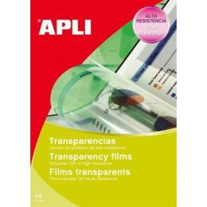 APLI 01063 - Boîte de 100 feuilles de film transparent pour jet d'encre HP, format A4
