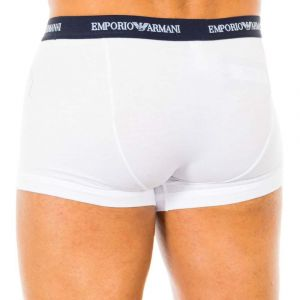 Emporio Armani CC717-111357 - Boxer - Uni - Homme,Lot de 3,- Multicolore (Bianco/Nero/Grigio) - Small (Taille fabricant: S)