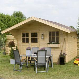 Outdoor Life Products Alex - Abri de jardin en bois 28 mm 14,4 m2