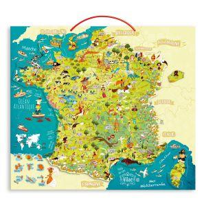 Vilac 2725 - Carte des merveilles de France magnétique