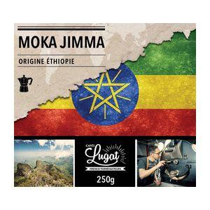 Cafés Lugat Café moulu pour cafetière italienne : Ethiopie - Moka Jimma - 250g