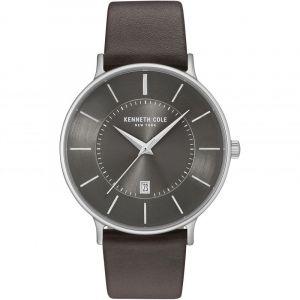 Kenneth Cole Men's KC15097005 Brown Leather Analog Quartz Dress Watch